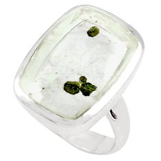 925 silver 16.46cts faceted marcasite in quartz solitaire ring size 7 p76435