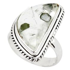 925 silver 16.92cts faceted marcasite in quartz solitaire ring size 8 p76440