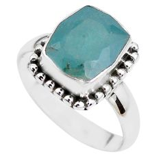 925 silver 4.82cts faceted natural grandidirite solitaire ring size 7 p41708