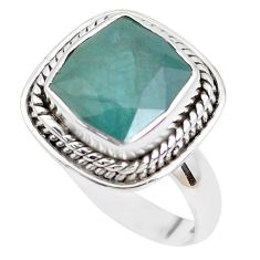 925 silver 5.76cts faceted natural grandidirite solitaire ring size 7.5 p41718