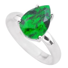 925 silver 4.18cts faceted natural maw sit sit pear solitaire ring size 8 p54220