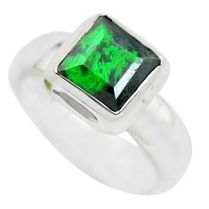 925 silver 3.35cts faceted natural maw sit sit solitaire ring size 5.5 p54474