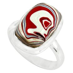 925 silver 7.04cts fordite detroit agate solitaire ring jewelry size 8 p79232