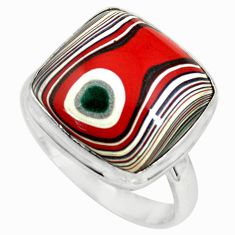 925 silver 11.57cts fordite detroit agate solitaire ring jewelry size 9.5 p79269