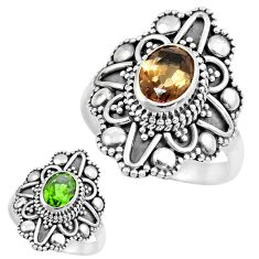 925 silver 2.20cts green alexandrite (lab) solitaire ring jewelry size 8 p61879