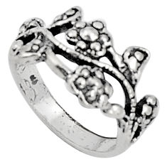 925 silver 5.03gms indonesian bali style solid flower ring size 6.5 c5224