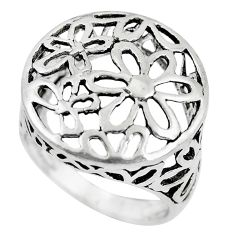 925 silver 5.48gms indonesian bali style solid flower ring size 7.5 c5252