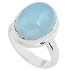 925 silver 8.42cts natural blue aquamarine solitaire ring jewelry size 7 p77792
