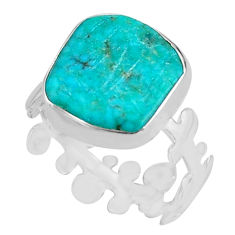 925 silver 6.19cts natural blue campitos turquoise solitaire ring size 9 p80312