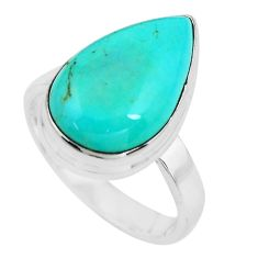 925 silver 11.23cts natural blue kingman turquoise solitaire ring size 8 p65452