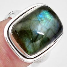 925 silver 9.65cts natural blue labradorite solitaire ring jewelry size 7 p85753
