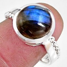 925 silver 5.09cts natural blue labradorite solitaire ring jewelry size 8 p92332