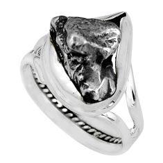 925 silver 22.75cts natural campo del cielo fancy solitaire ring size 8.5 p69129