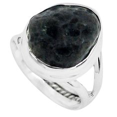 925 silver 6.36cts natural chintamani saffordite solitaire ring size 6 p69279
