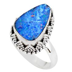 925 silver 4.82cts natural doublet opal australian solitaire ring size 7 p56455