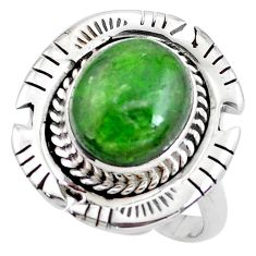 925 silver 5.01cts natural green chrome diopside solitaire ring size 8 p42191
