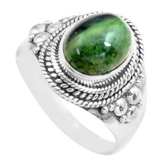 925 silver 4.40cts natural green kambaba jasper solitaire ring size 8.5 p71738