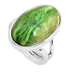 925 silver natural green swiss imperial opal solitaire ring size 6.5 p45978