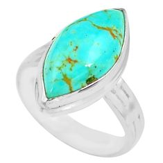 925 silver 10.78cts natural kingman turquoise solitaire ring size 7.5 p71357