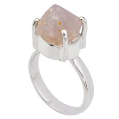 925 silver 6.84cts natural pink beta quartz solitaire ring jewelry size 9 p84427