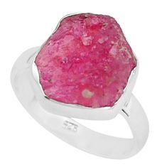 925 silver 6.82cts natural pink ruby rough solitaire ring jewelry size 8 p68980