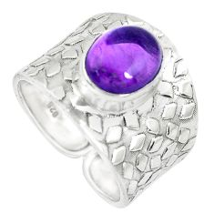 925 silver 4.40cts natural purple amethyst solitaire ring jewelry size 9 p51004