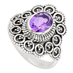 925 silver 2.33cts natural purple amethyst solitaire ring jewelry size 7 p52344