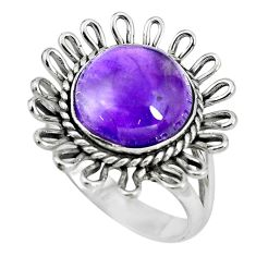 925 silver 5.52cts natural purple amethyst solitaire ring jewelry size 7 p70044