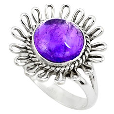 925 silver 5.52cts natural purple amethyst solitaire ring jewelry size 8 p78964