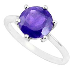 925 silver 2.87cts natural purple amethyst solitaire ring size 8.5 p36997