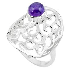 925 silver 1.17cts natural purple amethyst solitaire ring size 7.5 p61789