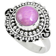 925 silver 3.09cts natural purple phosphosiderite solitaire ring size 7.5 p63084