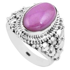 925 silver 4.21cts natural purple phosphosiderite solitaire ring size 7 p81284