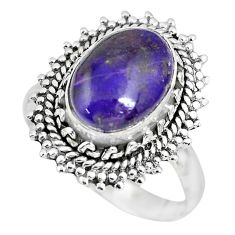 925 silver 4.94cts natural purple sugilite solitaire ring jewelry size 9 p63232
