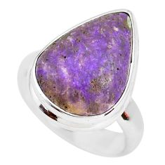 925 silver 10.78cts natural purple sugilite solitaire ring jewelry size 6 p71417
