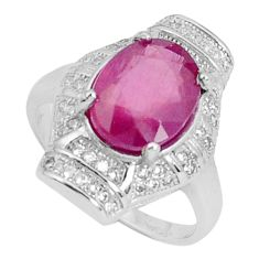 925 silver 6.58cts natural red ruby topaz solitaire ring jewelry size 7.5 a96364