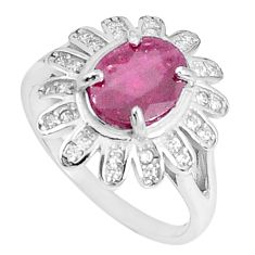 925 silver 4.70cts natural red ruby topaz solitaire ring jewelry size 7 a96370