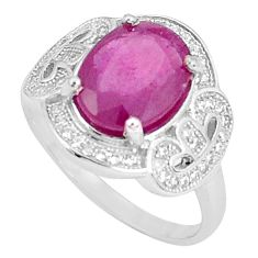 925 silver 6.26cts natural red ruby topaz solitaire ring jewelry size 9 a96379