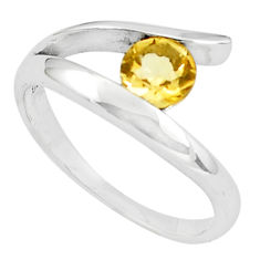 925 silver 1.21cts natural yellow citrine solitaire ring jewelry size 6.5 p36880