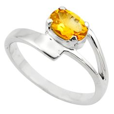 925 silver 1.48cts natural yellow citrine solitaire ring jewelry size 5.5 p83029