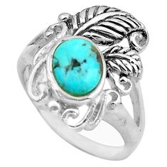 925 sterling silver 1.94cts blue arizona mohave turquoise ring size 8 c4818