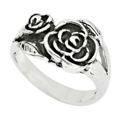 925 sterling silver 5.69gms indonesian bali style solid flower ring size 7 c3574