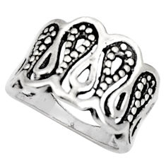 925 sterling silver 5.69gms indonesian bali style solid ring size 7 c5231