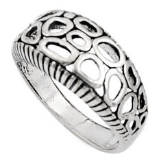 925 sterling silver 5.02gms indonesian bali style solid ring size 8.5 c5237