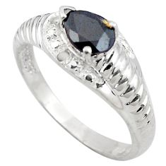 925 sterling silver 2.21cts natural black onyx ring jewelry size 8 c4280