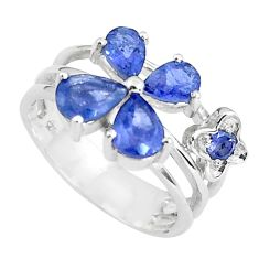 925 sterling silver 5.53cts natural blue iolite ring jewelry size 6.5 p37200
