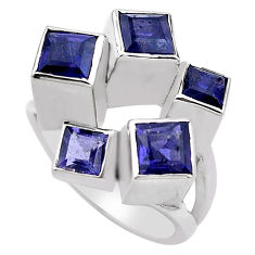 925 sterling silver 3.59cts natural blue iolite ring jewelry size 7 p83159