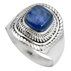 925 sterling silver 3.52cts natural blue kyanite solitaire ring size 8.5 p90578