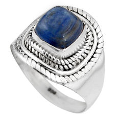 925 sterling silver 3.18cts natural blue kyanite solitaire ring size 8 p92044