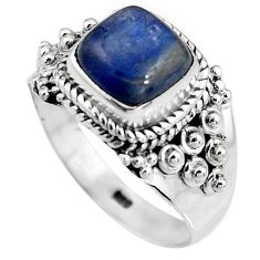 925 sterling silver 3.35cts natural blue kyanite solitaire ring size 8 p92055